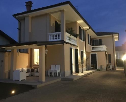 impianto illuminazione Villa Carola Milano